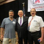 2013s15 Texas friends, Troy Calloway & Rafael Cruz (the father of Ted Cruz) with KRA President, Mark Gietzen in Dallas at the NFRA Convention